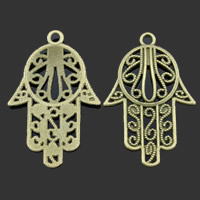 Zinc Alloy Hamsa Pendants, antique bronze color plated, lead & cadmium free, 29x44mm, Hole:Approx 2mm, 50PCs/Bag, Sold By Bag