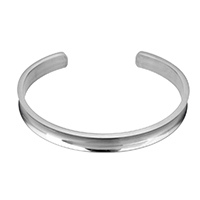 Stainless Steel Cuff Bangle, plated, for woman, more colors for choice, 7x2mm, Inner Diameter:Approx 60x47mm, Length:Approx 6 Inch, Sold By PC