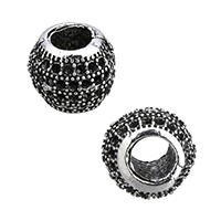 Zinc Alloy European Beads Setting, Rondelle, without troll & blacken, 11.5x10x11.5mm, Hole:Approx 5mm, Inner Diameter:Approx 0.5mm, Sold By PC
