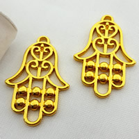 Zinc Alloy Hamsa Pendants, gold color plated, lead & cadmium free, 32x22mm, Hole:Approx 2mm, Sold By PC