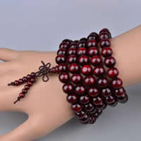108 Mala Beads, Sandalwood, natural, Buddhist jewelry & different size for choice & 5-strand, 108PCs/Strand, Sold By Strand