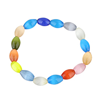 Cats Eye Bracelets, Oval, for woman, 12.5x8x8mm, Length:Approx 7 Inch, Sold By Strand