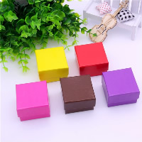 Cardboard Single Ring Box, with Sponge, Square, more colors for choice, 50x50x34mm, 24PCs/Bag, Sold By Bag