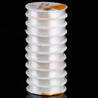 Crystal Thread, with plastic spool, white, 0.8mm, 10PCs/Lot, 15m/PC, Sold By Lot