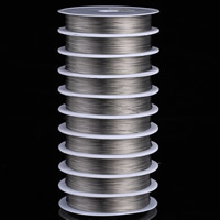 Wire Spool, Tiger Tail Wire, with plastic spool, original color, 0.25mm, 100m/PC, Sold By PC