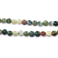 Natural Indian Agate Beads, Flat Round, different size for choice, Hole:Approx 1-1.5mm, Length:Approx 15.5 Inch, Sold By Strand
