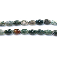 Natural Indian Agate Beads, Oval, 12x8.5x8.5mm, Hole:Approx 1.2mm, Length:Approx 16 Inch, Approx 33PCs/Strand, Sold By Strand