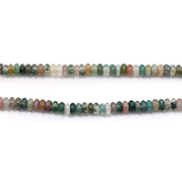 Natural Indian Agate Beads, Rondelle, 2x4.5x4.5mm, Hole:Approx 0.5mm, Length:Approx 15.5 Inch, Approx 170PCs/Strand, Sold By Strand