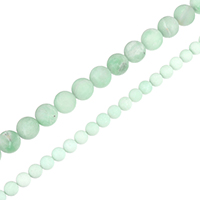 Amazonite Beads, Round, natural, different size for choice, Grade A Plus, Hole:Approx 0.5-1.5mm, Length:Approx 15.5 Inch, Sold By Strand