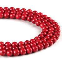 Synthetic Turquoise Beads, Round, different size for choice, Hole:Approx 1mm, Length:Approx 15 Inch, Sold By Strand