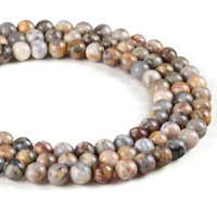 Natural Crazy Agate Beads, Round, different size for choice, Hole:Approx 1mm, Length:Approx 15 Inch, Sold By Strand