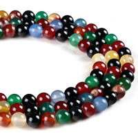 Natural Rainbow Agate Beads, Round, different size for choice, Hole:Approx 1mm, Length:Approx 15 Inch, Sold By Strand