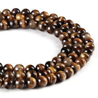 Tiger Eye Beads, Round, synthetic, different size for choice, Hole:Approx 1mm, Length:Approx 15 Inch, Sold By Strand