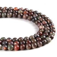 Natural Ocean Agate Beads, Round, different size for choice, Hole:Approx 1mm, Length:Approx 15 Inch, Sold By Strand