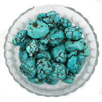 Synthetic Turquoise Beads, Nuggets, no hole, 15-20mm, 50G/Bag, Sold By Bag