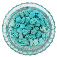 Synthetic Turquoise Beads, Nuggets, no hole, 7-11mm, 50G/Bag, Sold By Bag