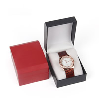 Plastic Watch Box, with PU, Rectangle, more colors for choice, 100x80x55mm, Sold By PC