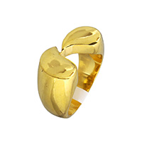 Stainless Steel Finger Ring, gold color plated, 13mm, US Ring Size:9, Sold By PC