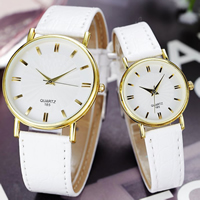 Unisex Wrist Watch, PU, with Glass & Zinc Alloy, plated, adjustable & different size for choice, more colors for choice, Sold By PC