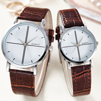 Unisex Wrist Watch, PU, with Glass & Zinc Alloy, platinum color plated, adjustable & different size for choice, more colors for choice, Sold By PC