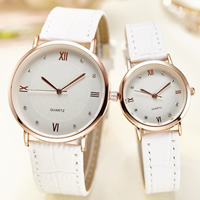 Unisex Wrist Watch, PU, with Glass & Zinc Alloy, plated, adjustable & different size for choice & with rhinestone, more colors for choice, Sold By PC