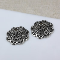 Zinc Alloy Bead Caps, Flower, antique silver color plated, hollow, 18mm, Hole:Approx 2mm, Sold By PC