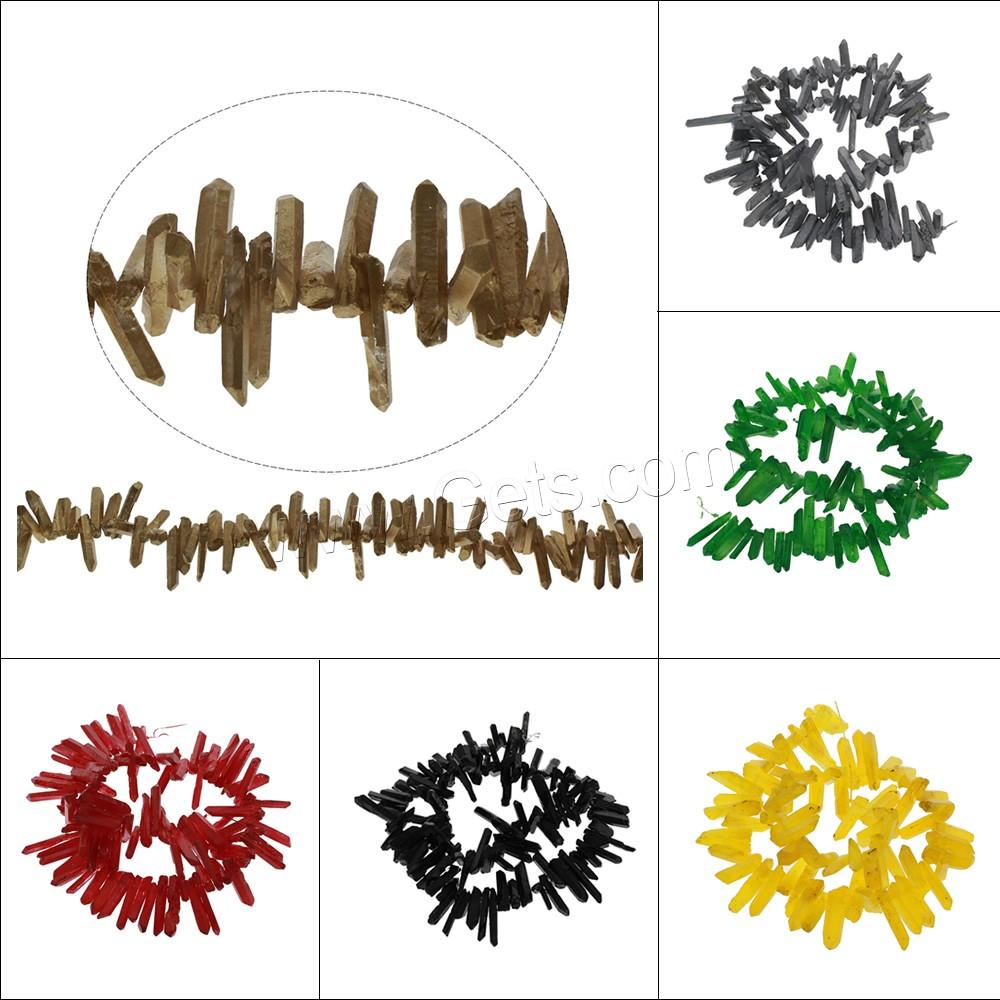 mix color quartz beads 17x2x237x5x3mm getscom