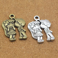 Zinc Alloy Couple Pendant, plated, more colors for choice, 24x31x3mm, Hole:Approx 1.5mm, Sold By PC