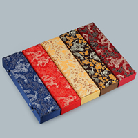 Satin Necklace Box, with Cardboard & Resin, Rectangle, different designs for choice, 70x265x40mm, Sold By PC