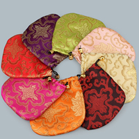 Satin Jewelry Pouches, with Nylon Cord, more colors for choice, 130x130mm, Sold By PC