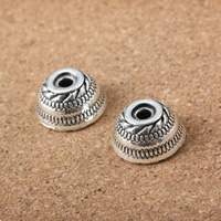 Zinc Alloy Bead Caps, antique silver color plated, 13mm, Hole:Approx 3mm, Sold By PC