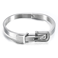 Stainless Steel Bangle, with Velveteen, for man, 12.5mm, Inner Diameter:Approx 56x45mm, Sold By PC