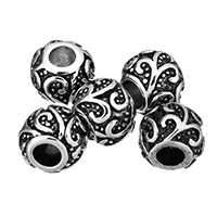 Stainless Steel European Beads, without troll & blacken, 12x10x12mm, Hole:Approx 4.5mm, Sold By PC