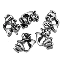 Stainless Steel European Beads, Squirrel, without troll & blacken, 9x14.5x10.5mm, Hole:Approx 5mm, Sold By PC