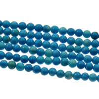 Dyed Natural Turquoise Beads, Dyed Turquoise, Round, 3mm, Hole:Approx 1mm, Length:Approx 16 Inch, Approx 133PCs/Strand, Sold By Strand