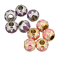 Stainless Steel European Beads, plated, without troll & enamel, more colors for choice, 10x12x12mm, Hole:Approx 5mm, Sold By PC