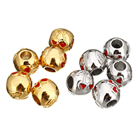 Stainless Steel European Beads, plated, without troll & enamel, more colors for choice, 10.5x11.5x12mm, Hole:Approx 4.6mm, Sold By PC