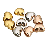 Stainless Steel European Beads, Heart, plated, without troll, more colors for choice, 12x10.5x8mm, Hole:Approx 4.6mm, Sold By PC