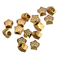 Stainless Steel European Beads, Star, gold color plated, without troll & enamel, more colors for choice, 12.5x11.5x9mm, Hole:Approx 5mm, Sold By PC