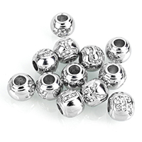Stainless Steel European Beads, zodiac jewelry & different designs for choice & without troll & with rhinestone, 10.5x12x12mm, Hole:Approx 4.8mm, Sold By PC
