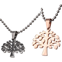 Stainless Steel Pendants, 316L Stainless Steel, Tree, plated, Unisex & for woman, more colors for choice, 22x22x2mm, Hole:Approx 3x5mm, Sold By PC