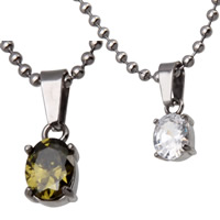 Crystal Jewelry Pendants, 316L Stainless Steel, with Crystal, Flat Oval, faceted, more colors for choice, 7x13x5mm, Hole:Approx 3x5mm, Sold By PC