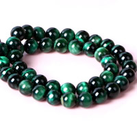 Tiger Eye Beads, Round, natural, different size for choice, green, Hole:Approx 1mm, Length:Approx 15 Inch, Sold By Strand