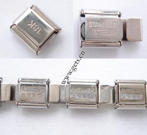 Italian Link Charm Bracelet: Stainless Steel Italian Charm Link 9X10X4mm