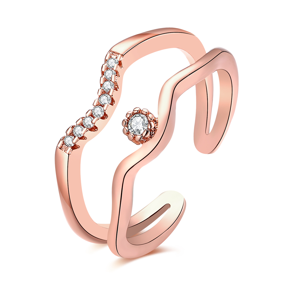 1 real rose gold plated