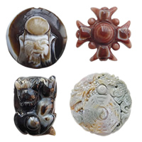 Carved Agate Pendants