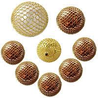 Brass Woven Beads