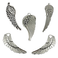 Wing Shaped Zinc Alloy Pendants