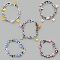 Cats Eye Stainless Steel Bracelets
