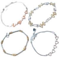 Two Tone Sterling Silver Bracelets